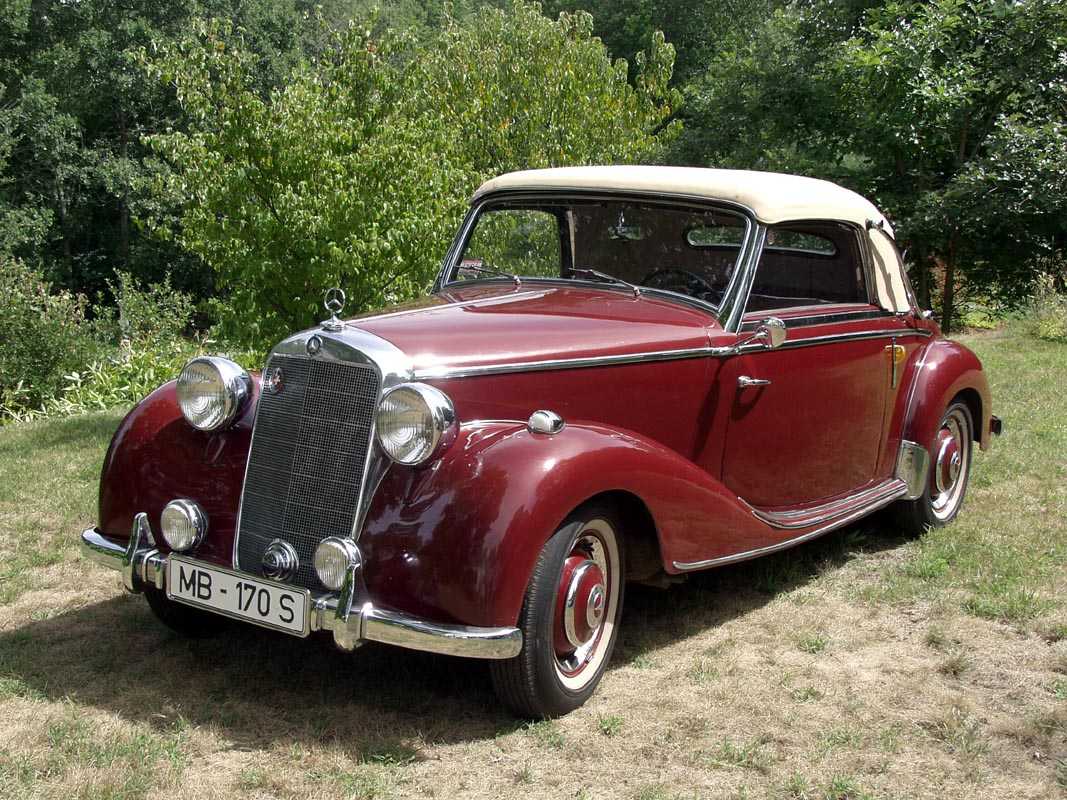 volker 39 s 1950 mercedes 170s cabriolet a. Black Bedroom Furniture Sets. Home Design Ideas